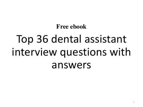 top 10 dental assistant questions and answers