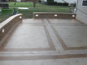 Cement Patio Design by Unique Concrete Design Llp Concrete Amp Masonry