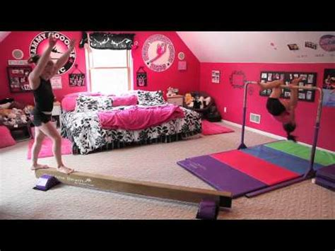 gymnastics bedroom on gymnastics room
