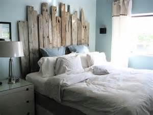 driftwood headboard bedroom