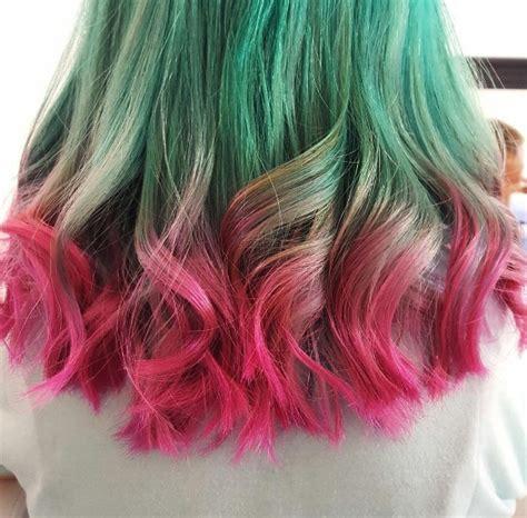 hair col watermelon hair is a sweet new summer escape beauty