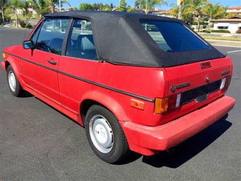 1988 volkswagen golf rabbit cabriolet classic volkswagen cabrio 1988 for sale 1988 volkswagen rabbit cabriolet 2dr convertible red california rust free 5spd for sale in san