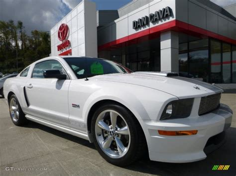 2007 mustang gt performance specs 2007 performance white ford mustang shelby gt coupe
