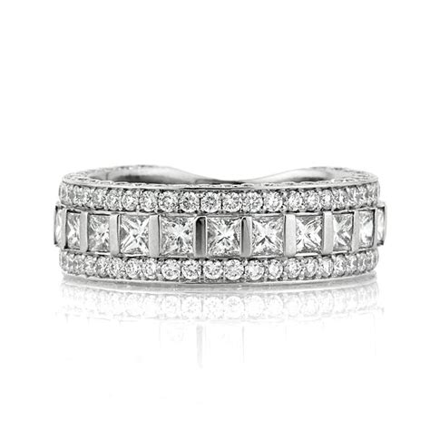 princess cut anniversary ring broumand