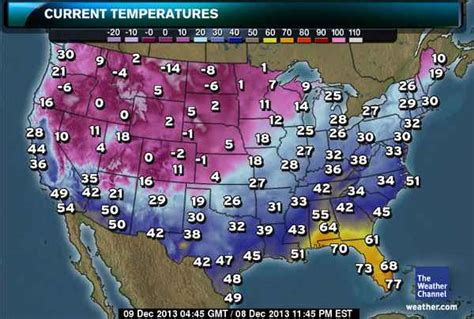 weather usa map cold weather and diabetes war on diabetes