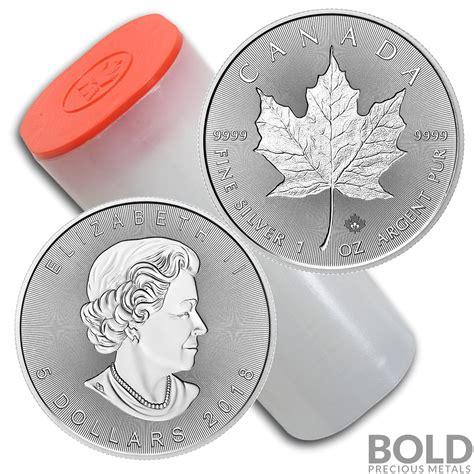 1 oz canadian maple leaf silver 2018 silver 1oz ca maple leaf incuse 25 coins bold