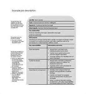 sample job description template 9 free documents in pdf
