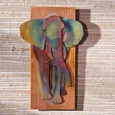 Copper Elephant Wall
