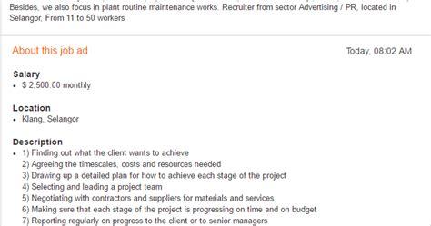 design engineer job vacancy selangor oil gas vacancies mechanical engineer persada teraju
