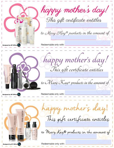 printable gift certificate mary kay 2318 best mary kay ideas images on pinterest mary