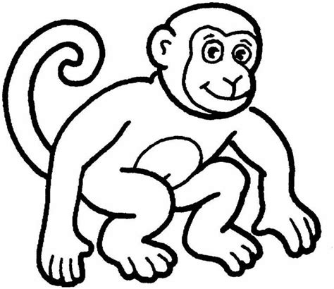 color monkey free coloring pages of monkey mask