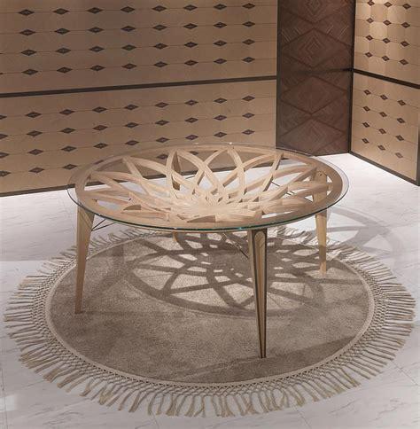 tavoli per salotti moderni tavolo rotondo in legno e vetro per salotti moderni