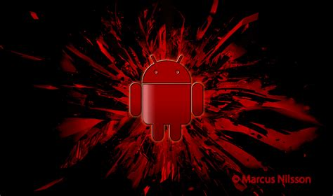 wallpaper android red android red dark wallpaper wallpup com