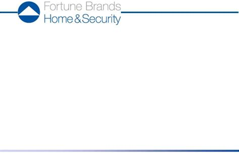 fortune brands home security inc form 8 k ex 99 1