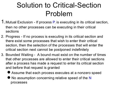 What Is Critical Section by Os Process Synchronization Semaphore And Monitors