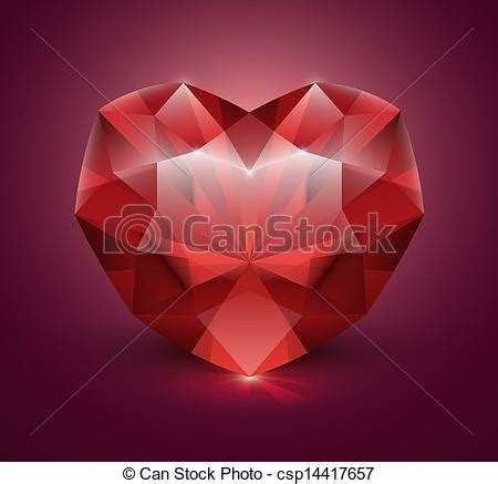 heart shaped gem stone heart shaped gemstone vector