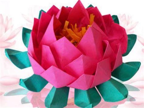 Easy Origami Lotus - unique and easy origami lotus allfreepapercrafts