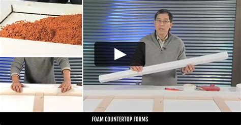 Foam Concrete Countertop Forms by Countertop Supplies And Tools The Concrete Network