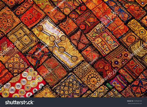 Patchwork Photo Quilt - patchwork quilt jaisalmer india stock photo 107840165
