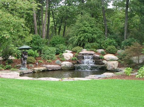 backyard waterfall designs backyard waterfall traditional landscape boston by