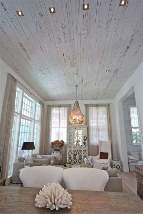 love  distressed white wood ceiling rosemary beach