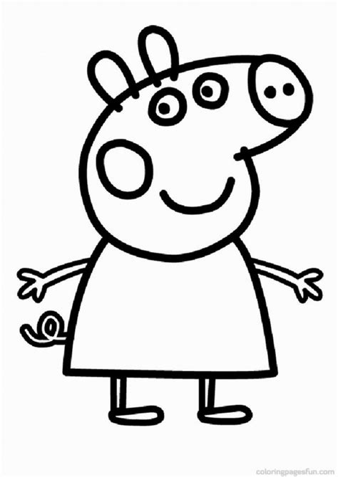 peppa pig swimming coloring page peppa pig swimming coloring pages