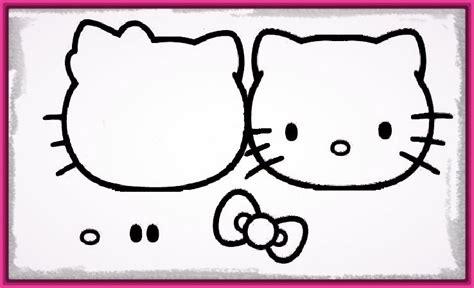 imagenes de hello kitty la cara dibujos con la cara de hello kitty para colorear