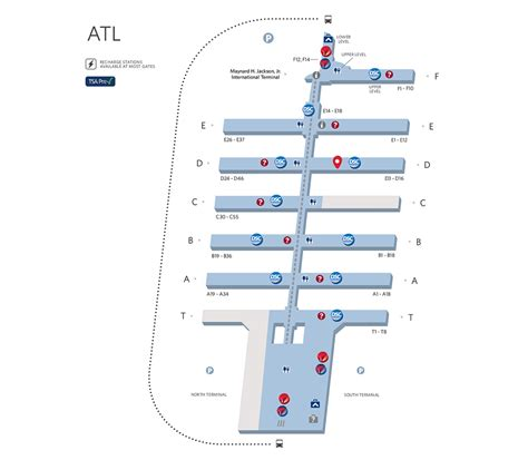atl terminal map your guide to the atlanta airport delta air lines