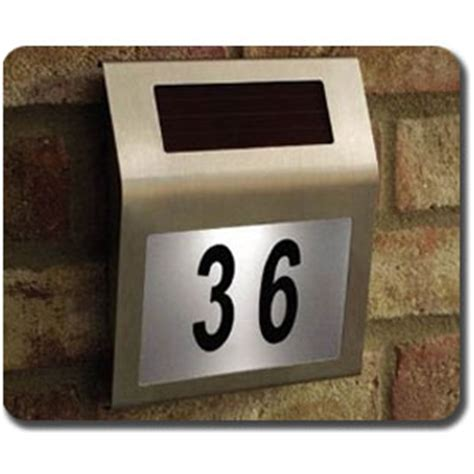 solar house numbers solar powered house number sign stainless steel 180 x 200 string led lights