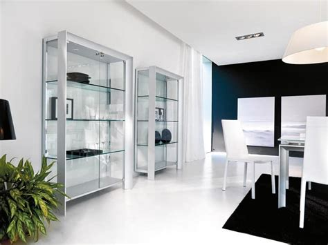 Contemporary Dining Room Display Cabinets Showcase Modern In Wood Metal And Glass For Dining Room