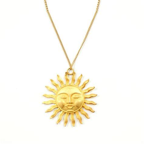 Sun Pendant Necklace retro 70s sun pendant necklace needful things