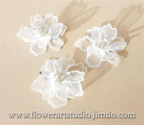 Lace Hair Clip small lace flower clip vintage style lace hair