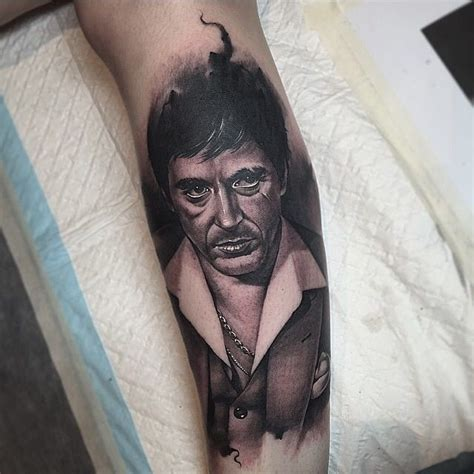 scarface tattoo scarface portrait by benjamin laukis