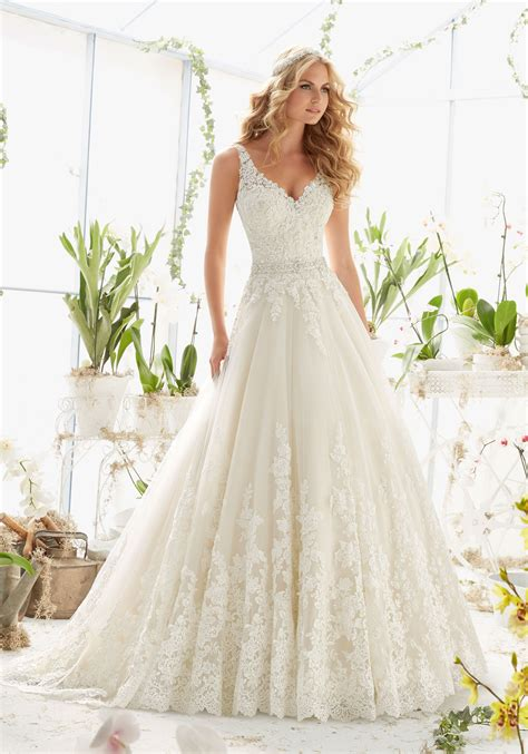 Tulle Wedding Dresses by Tulle Wedding Dress With Beaded Lace Style 2821