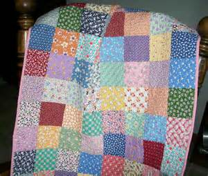 baby cotton quilt 1930s reproduction fabrics vintage look