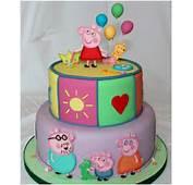 Torta Decorata Peppa Pig  Landscake