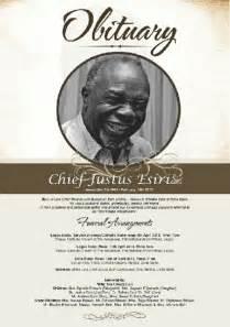 photo obituary poster the late actor chief justus esiri