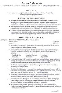 resume investment associate venture capital susan