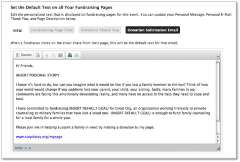 how to write an email template write the nonprofit fundraising email