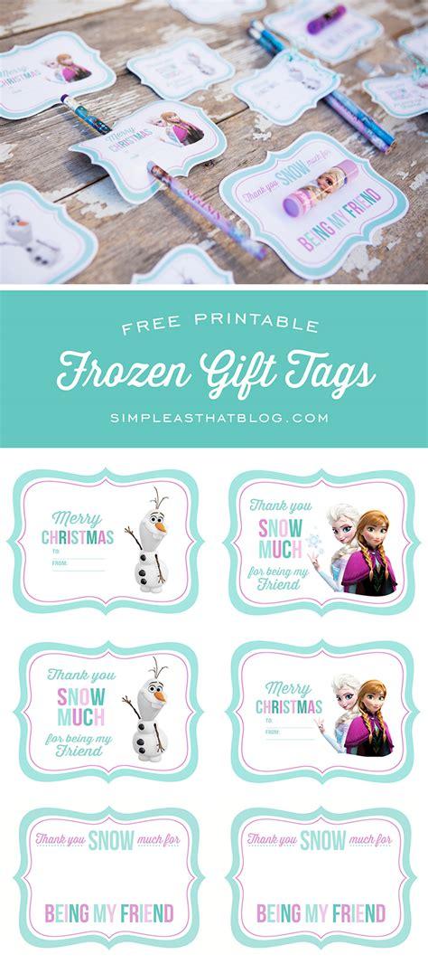 printable frozen favor tags free printable disney frozen gift tags