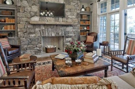 Cozy Mountain Homes @Frank Smith Frank Smith Residential Design stone fireplace Interiors