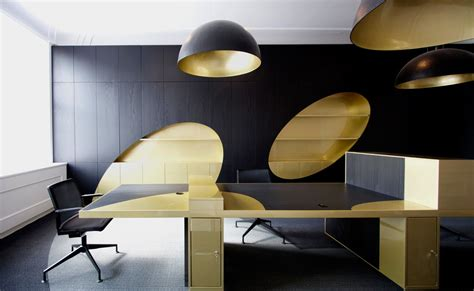 black and gold office from i29 architects office snapshots