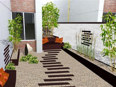 dise帽o de patios y jardines creativo escalera interior patio