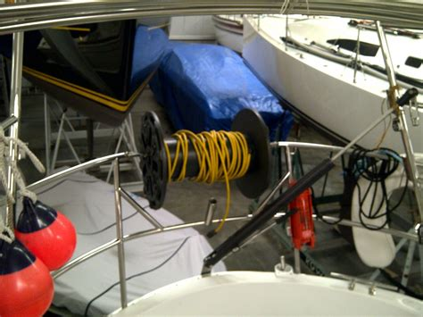 sailboat stern tie stern tie rope storage cruisers sailing forums