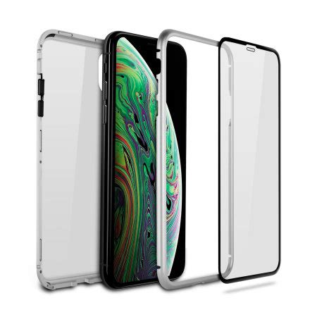 olixar colton iphone xs max 2 w screen protector silver