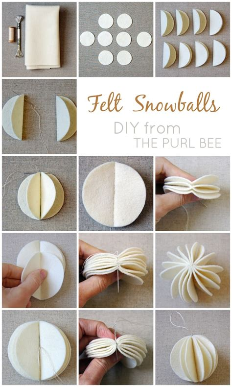 How To Make A Paper Snowball - diy felt snowballs going home to roost
