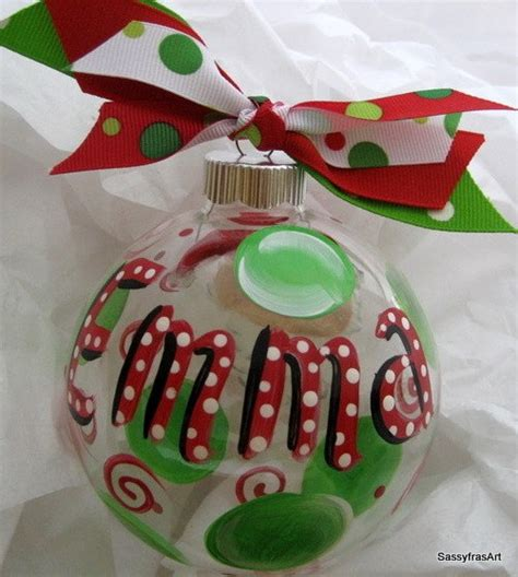 personalized christmas ornament hand painted by