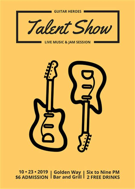 Red And Yellow Talent Show Flyer Templates By Canva Free Printable Talent Show Flyer Template