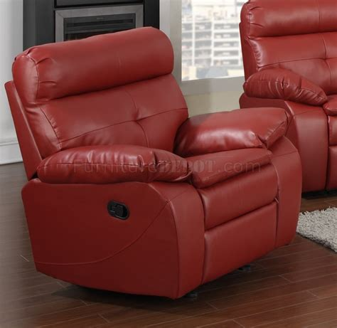 red leather loveseat recliner g570a reclining sofa loveseat in red bonded leather by glory