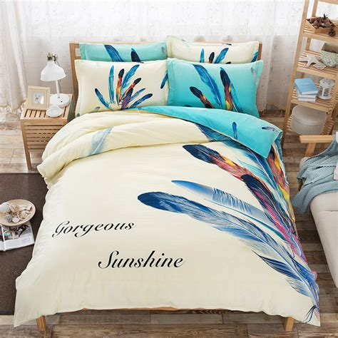 feather print bedding queen feather duvet promotion shop for promotional queen